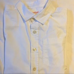 Boys classic white button down cotton shirt